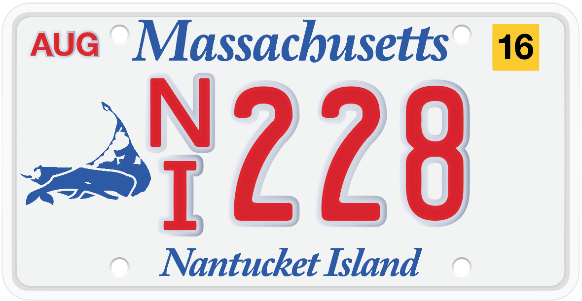 Nantucket License Plate Project