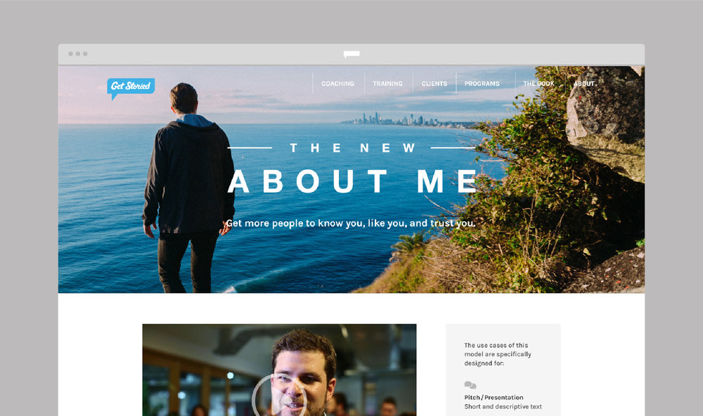 Get Storied - About me page