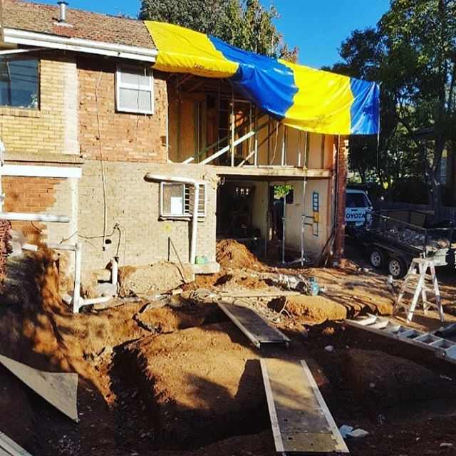 Repost from @futurebuildingcanberra great progress shot and glad to see our tarps helping to keep the rain and hail out 🙌🏻🔨🌨