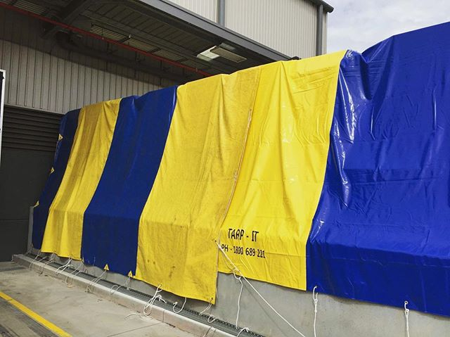Our Tarps being used to protect valuable warehouse goods in Sydney