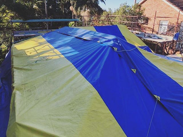 Temporary waterproof roof sorted! 📷: Your Style Designer Homes site in Sydney.