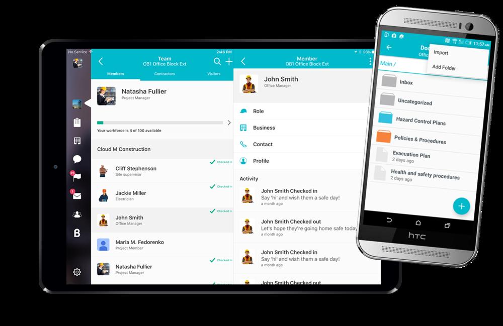 Blerter Screenshot - Team and Documents