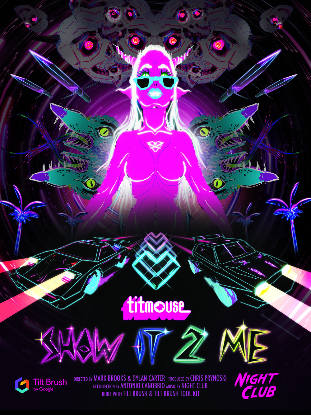 A psychedelic, interactive music video.  4 mins on HTC Vive.  All ages with parental consent for children under 13.