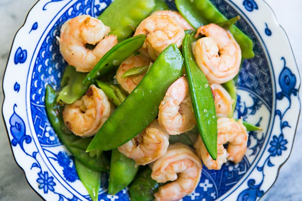 Shrimp & Snow Pea Stir Fry