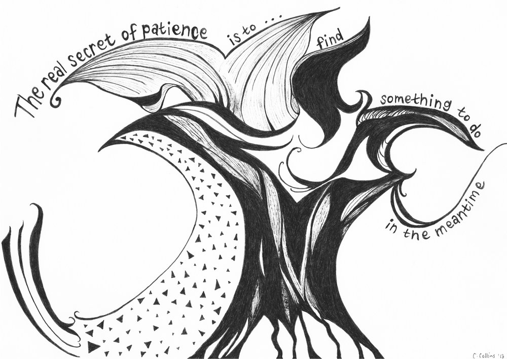 Patience Ink Sketch - Ink Sketch, Prints Available