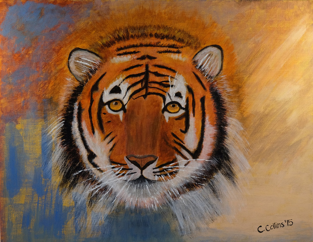 Strength and Courage - Acrylic Painting, Prints available