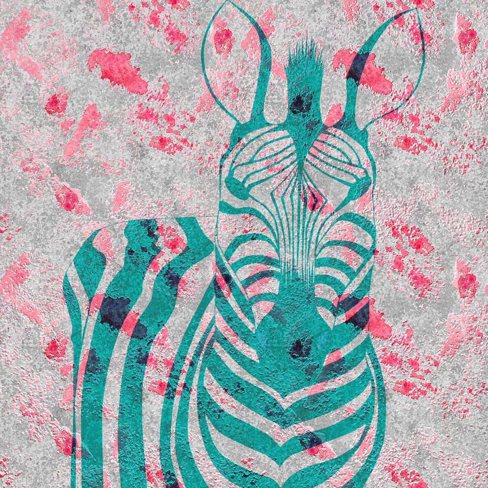 My stripes are turquoise - Digital design, Prints available