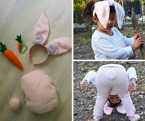 """אלה בתחפושת DIY ארנבת """"עולמה של אלכסה"""""""