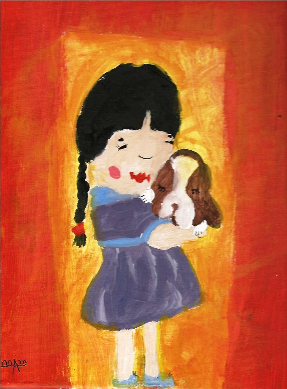 אומנות ילדים שכולה תרומה. ציירה:נועם אורן, בת 9, חיפה