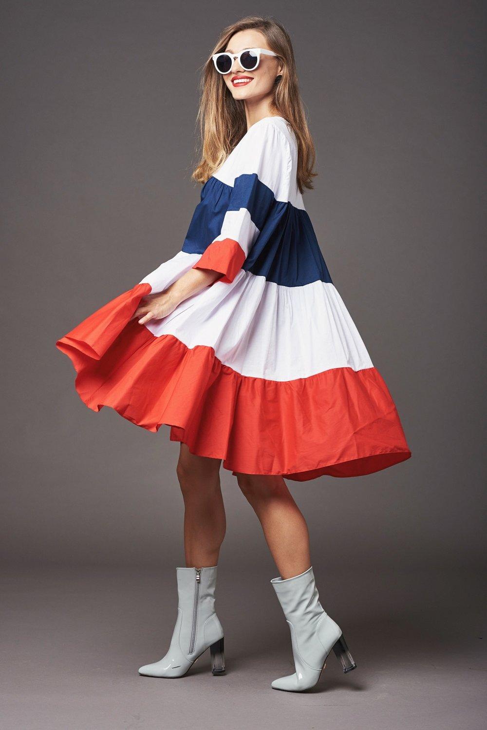 """שמלה של המעצבת לילך אלגרבלי389 ש""""ח  Lilachelgrably.com  (צילום גלעד בר שלו)"""