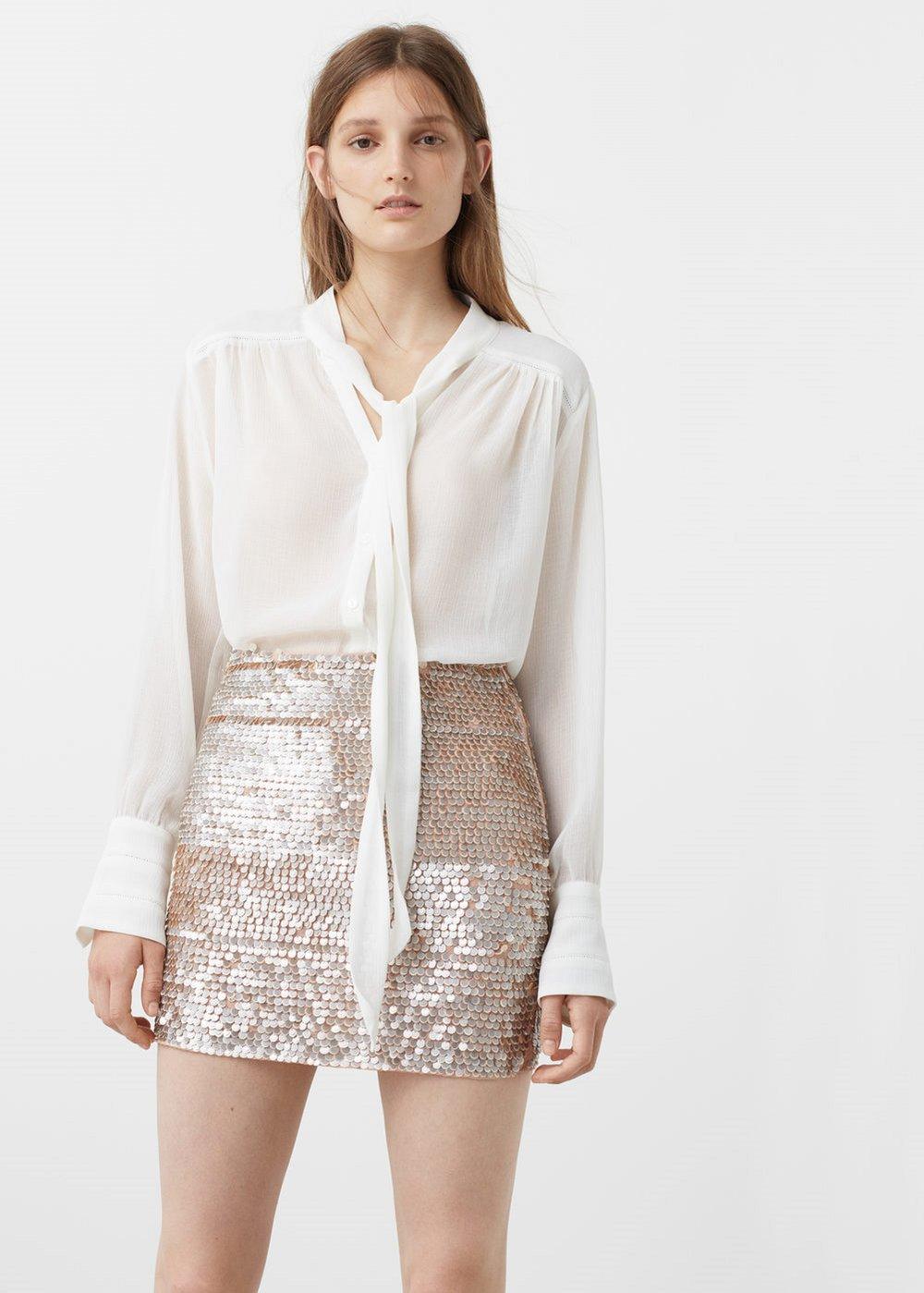 חצאית פאייטים, MANGO (צילום: יח״צ חו״ל)