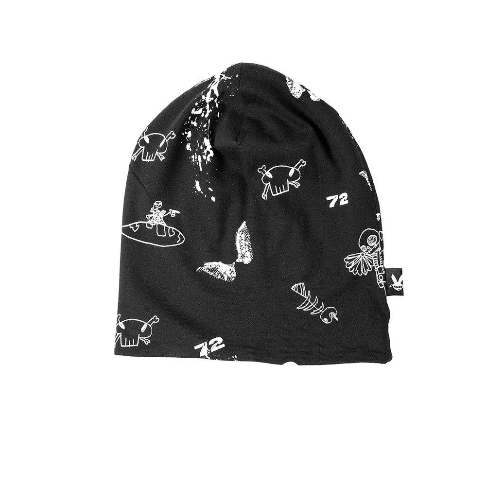 כובע דו-צדדי שחור
