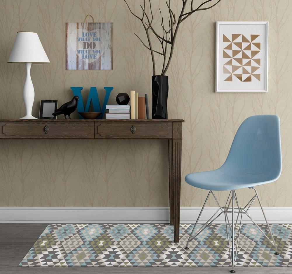 שטיח ויניל של קרן דניס (צילום:יפית בשבקין)