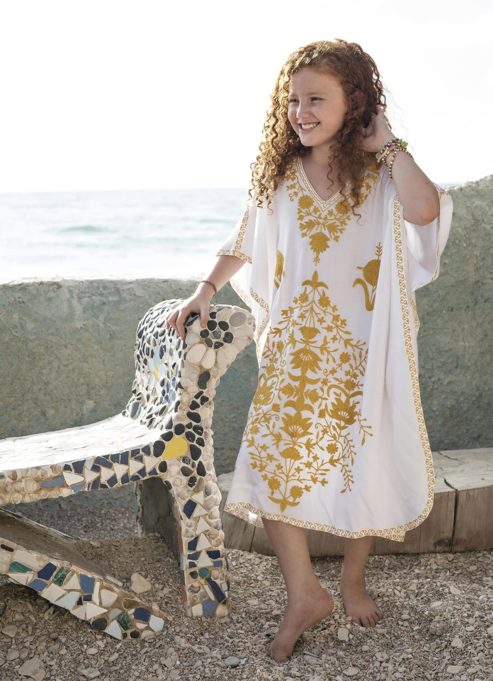 שמלת גלביה לילדה 349 ש״ח (צילום אלכס ליפקין)