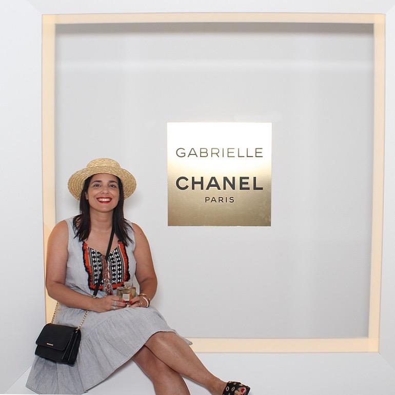 הגר טהר לב, בעלת ועורכת אופנה מגזין it באירוע השקת ״גבריאל״ הבושם, באתונה יוון (מתוך  האינסטגרם של הגר )
