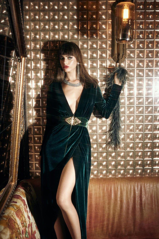 שמלת קטיפה נטע אפרתי (צילום נטלי זריקר)