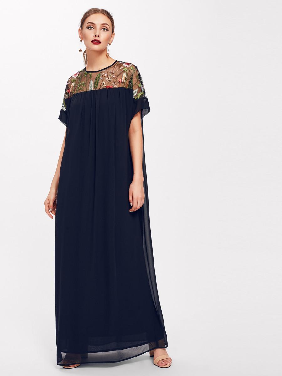 שמלת מקסי אוברסייז בוהמייאנית SHEIN
