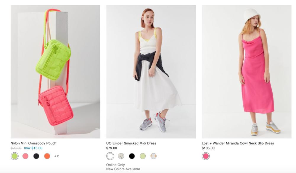 נורמה-קור עם נגיעות של זוהרים״ מתוך אתר המותג  Urban Outfitters