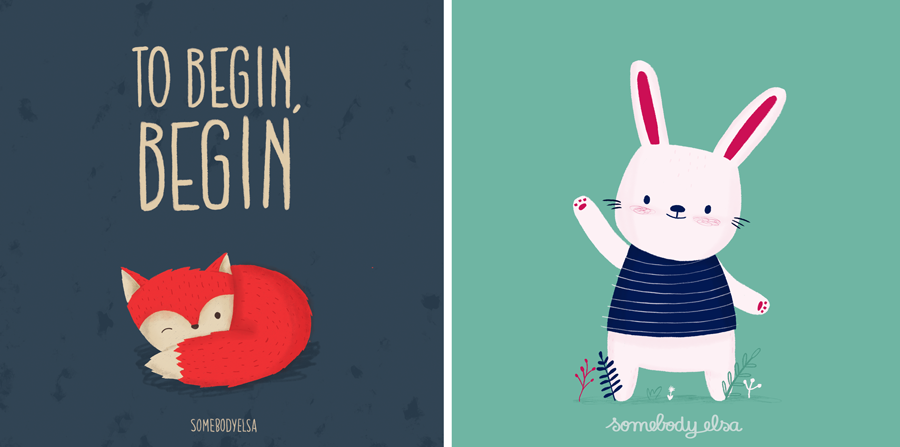 two illustrations I really liked making this month and that will become prints in my shop