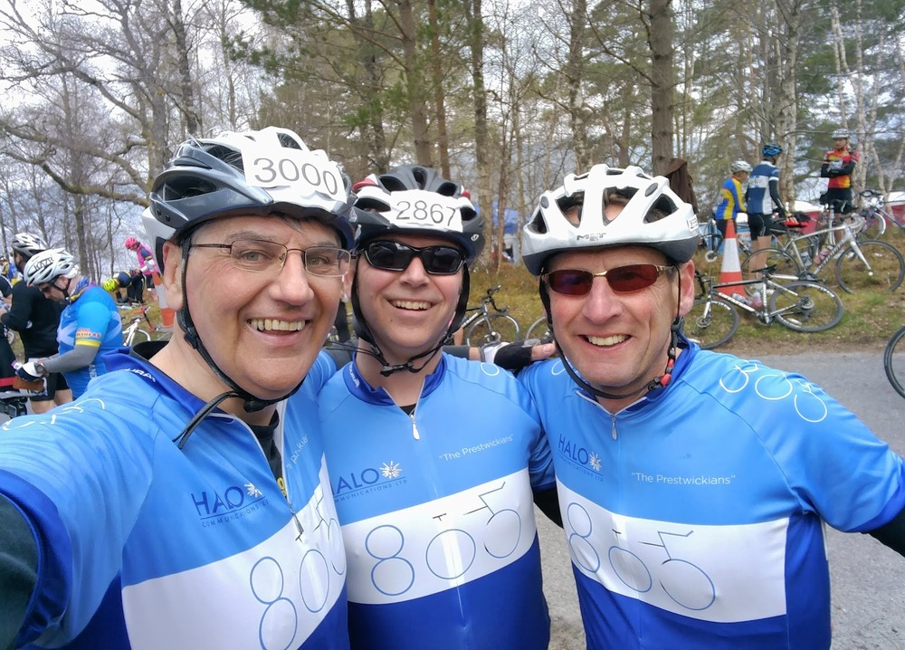 Halo Communications Cyclists at the Étape Caledonia