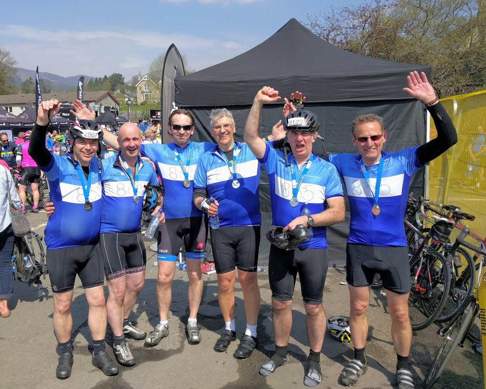 Halo employees completing the étape caledonia road bike sportive