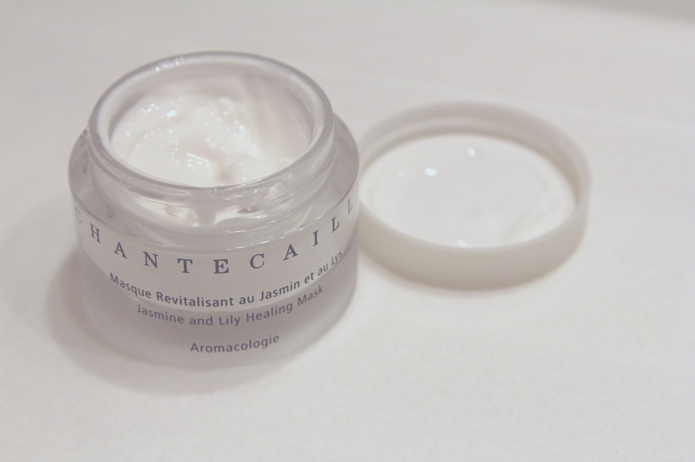 You can see the gel cream like consistency of the Chantecaille Jasmine and Lily Mask here.