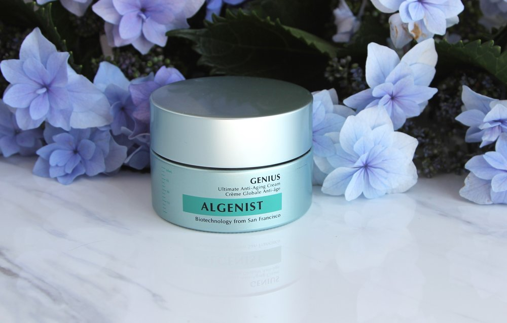 The entire Algenist line contains ingredients derived from algae such as their patented Alguronic Acid to help and maintain healthy skin.