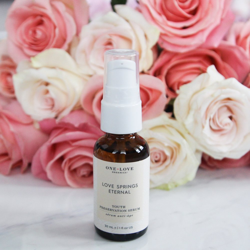 The One Love Organics 'Love Springs Eternal' Youth Preservation Serum featured in the most recent box edit.