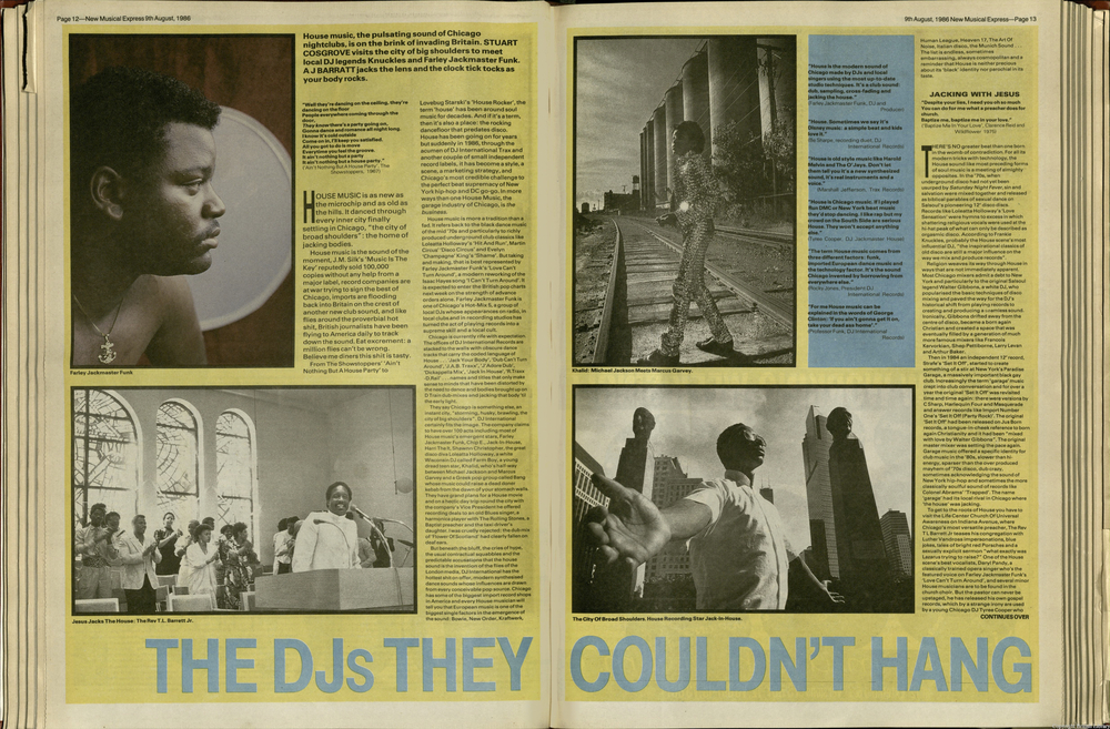 from New Musical Express. 9th August 1986.