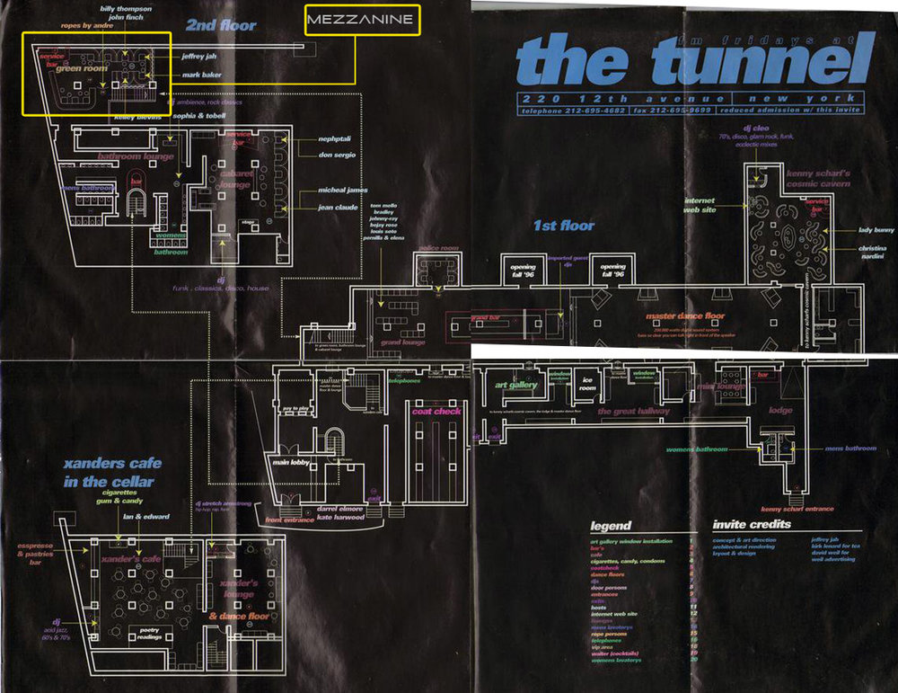 Floor plan of the NYC's The Tunnel.