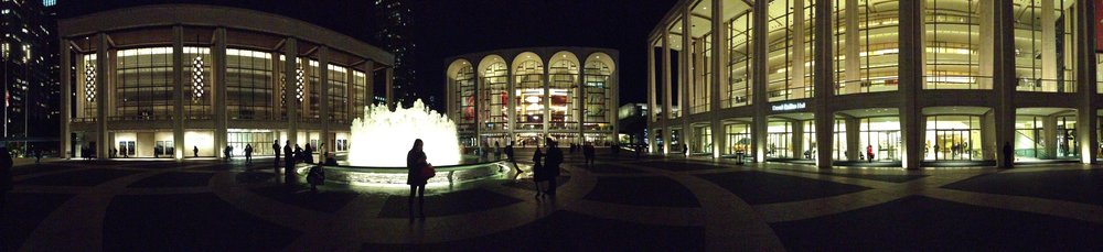 """Lincoln centre. Met JT here. The home of classical """"proper"""" music in NYC."""