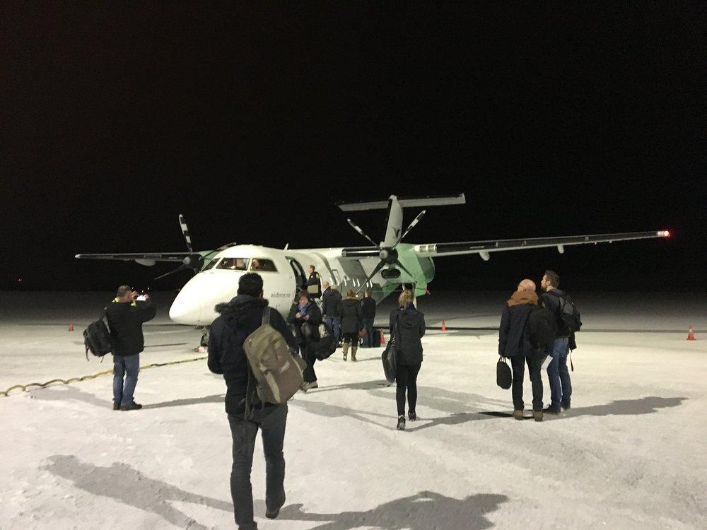 Laatste vlucht : van Bodo naar Leknes