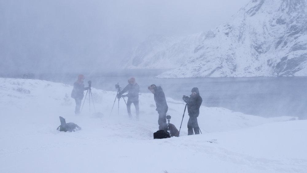 Sneeuwstorm in het dorpje A