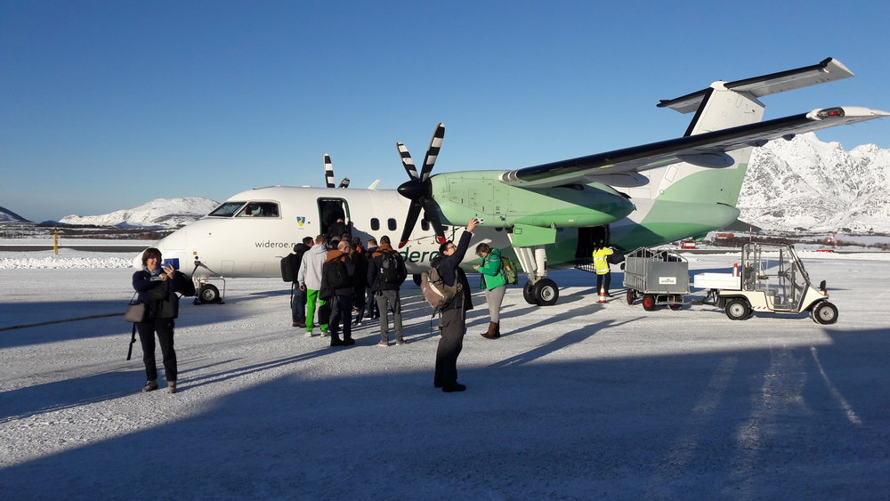 Ons vliegtuig richting Bodo