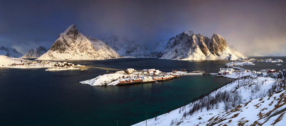 Uitzicht over Reine, Lofoten
