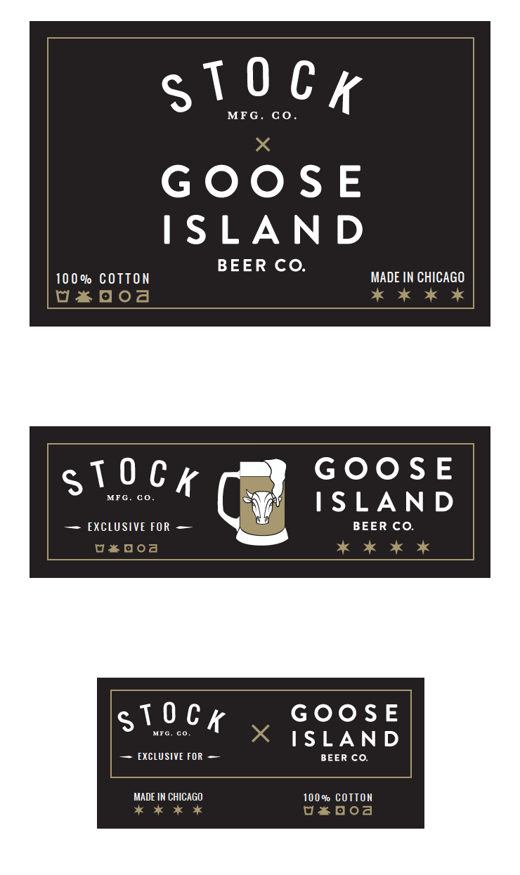 Goose Island Apparel and Uniform Inside Tag Design