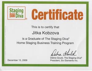 Home Staging Certifikat Praha Jitka Kobzova