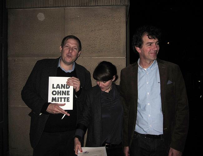 mit Verleger Andreas Wellnitz (l) &Laudator Andreas Langen (r)