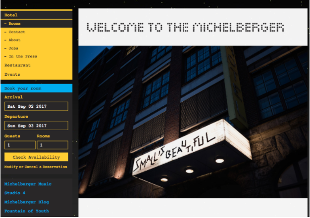 The Michelberger hotel - a great website