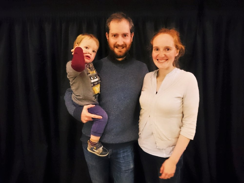 """They really are a model and example to us of what it looks like to live our lives for Christ."" Kenny and Anna with Daniel Macleod have been part of Grace Church Leith since August 2014."