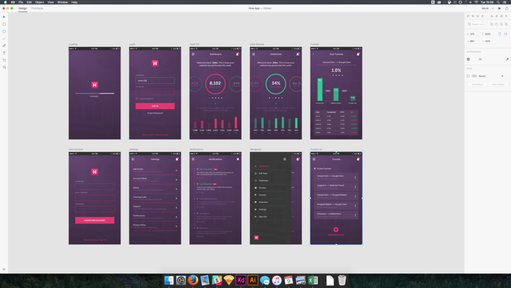 Adobe XD's clean interface is the antithesis to Photoshop.