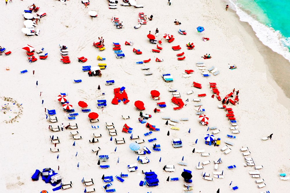 Cheryl Maeder South Beach, Red and Blue