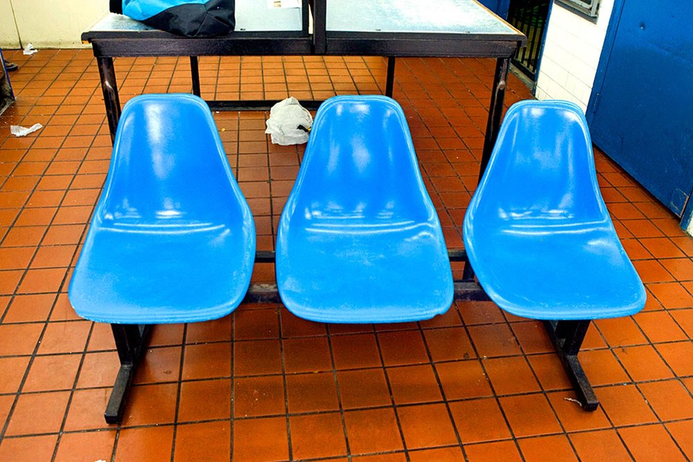Cheryl Maeder Laundromat Chairs in Blue