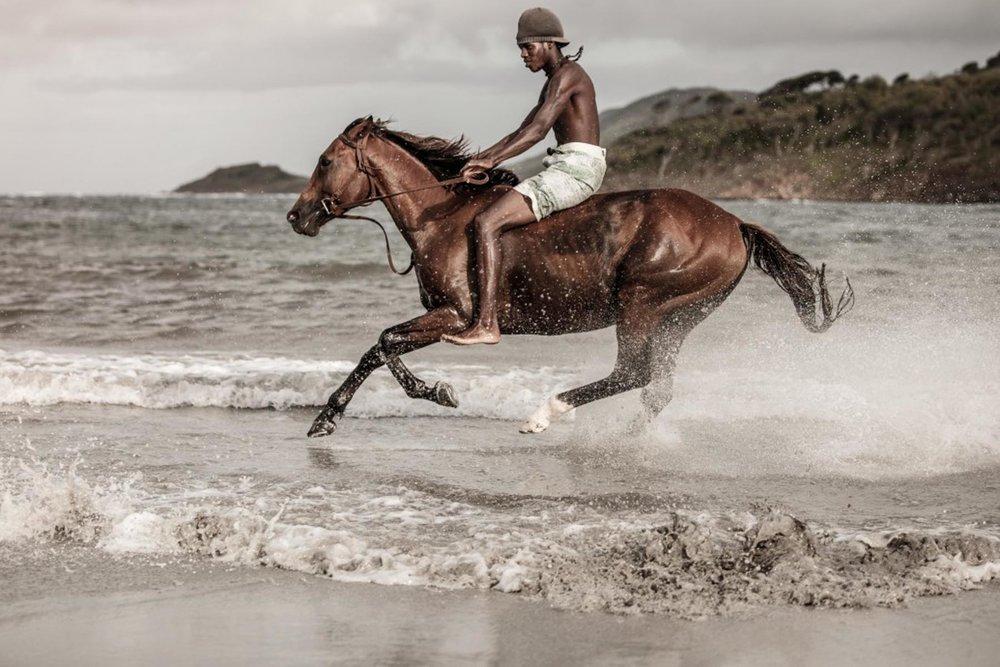 Richard Wadey Man Riding Horse