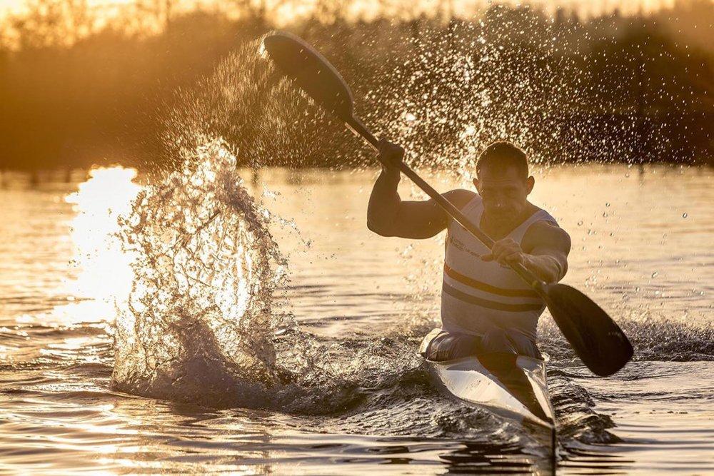 Richard Wadey Man in Canoe