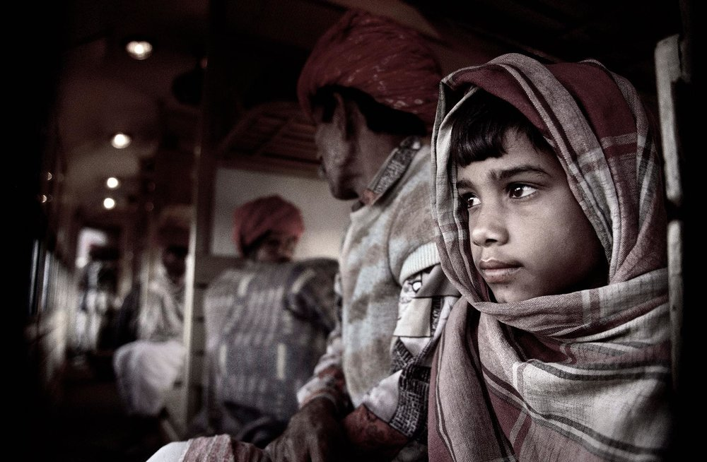 Nigel Harniman Boy on a Train India