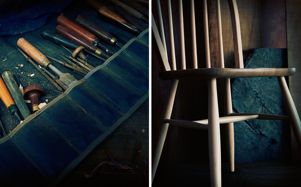 Graham Atkins-Hughes Tools & Wooden Chair