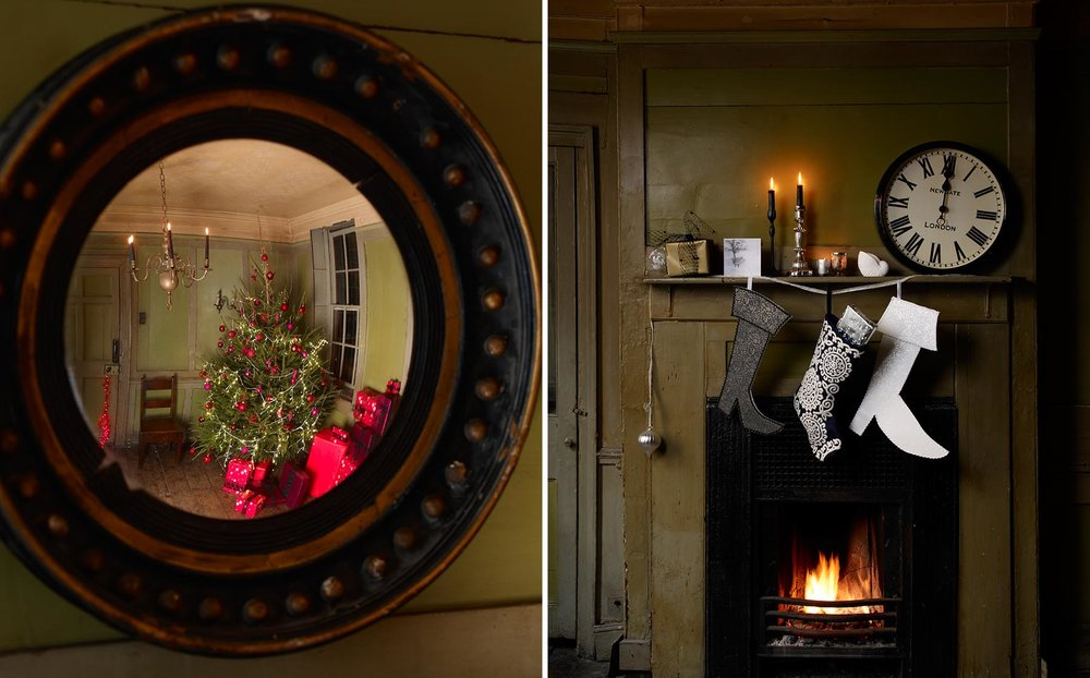 Graham Atkins-Hughes Christmas Mirror & Fireplace