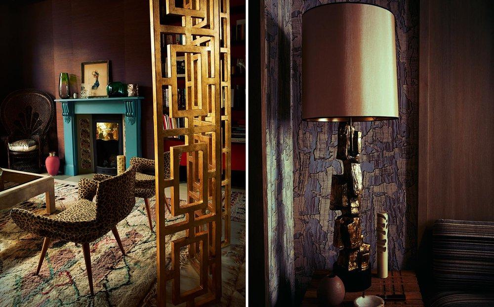 Graham Atkins-Hughes Animal Print Chairs & Lamp