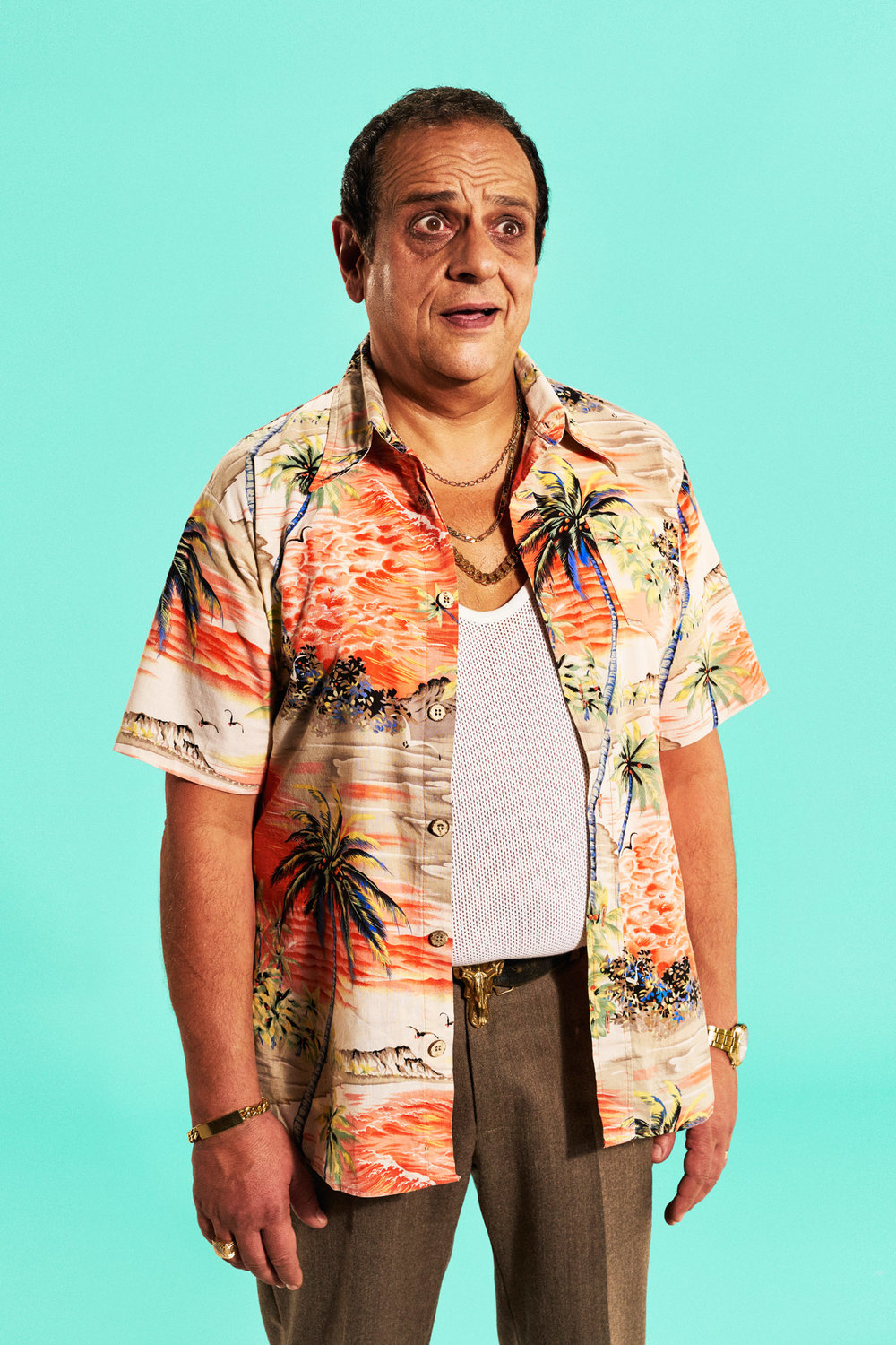 Joe Giacomet - Man in Hawaiian shirt
